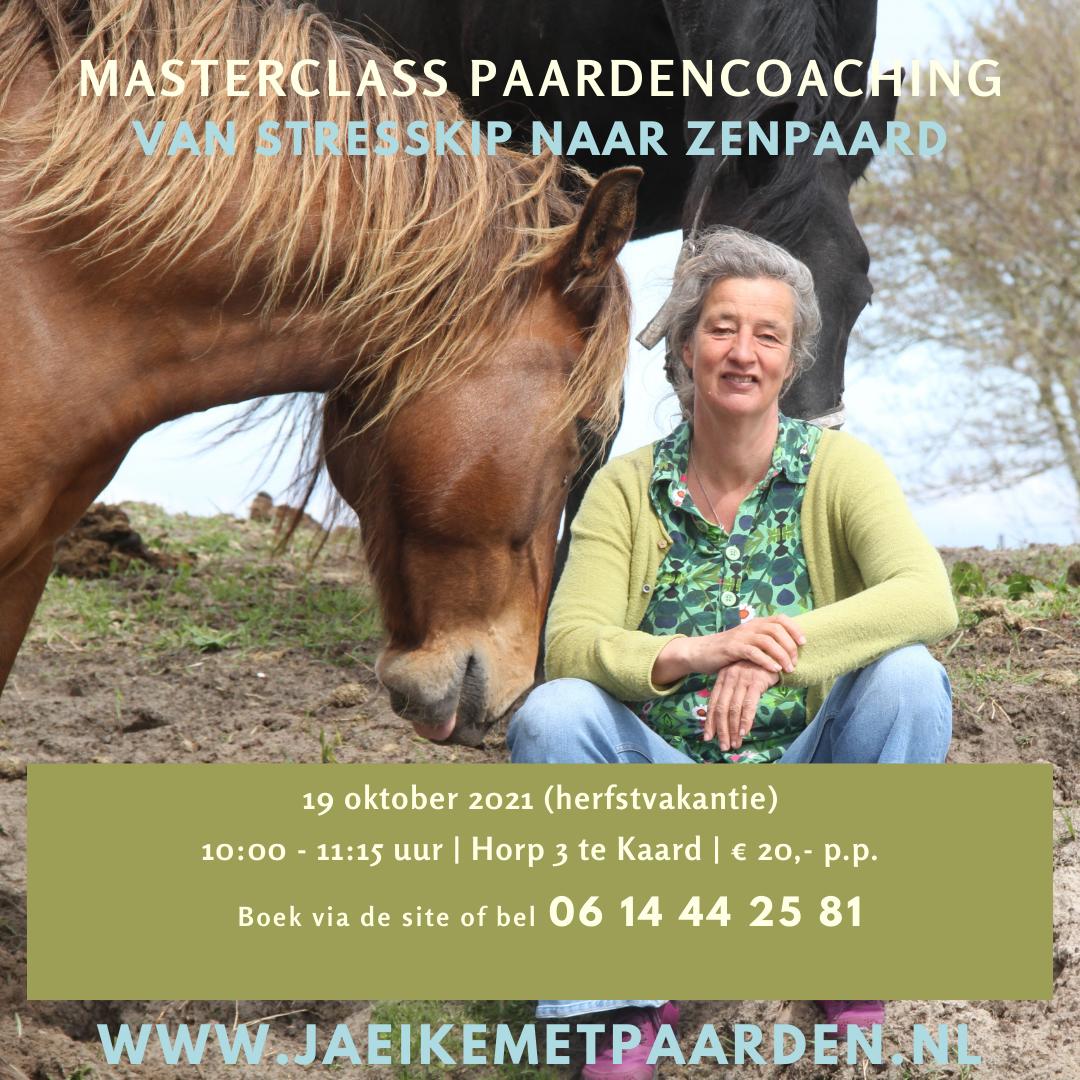 Masterclass paardencoaching door Jaeike